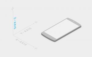 A Material Design els elements també es posicionen en pantalla respecte a l'eix Z (font imatge: google.com)